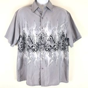 Extreme Gear Dragon Pattern Shirt Grey L